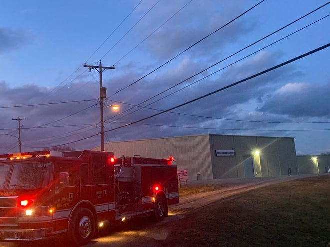 As of 7 p.m. on Monday, fire personnel had been parked on Sundale Road outside of the United Candle factory for five hours. The Muskingum County Sheriff's Office was also on scene in Norwich.