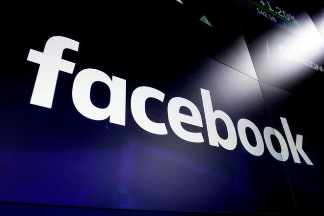 Facebook logo at Nasdaq on March 29, 2018, in New York City.