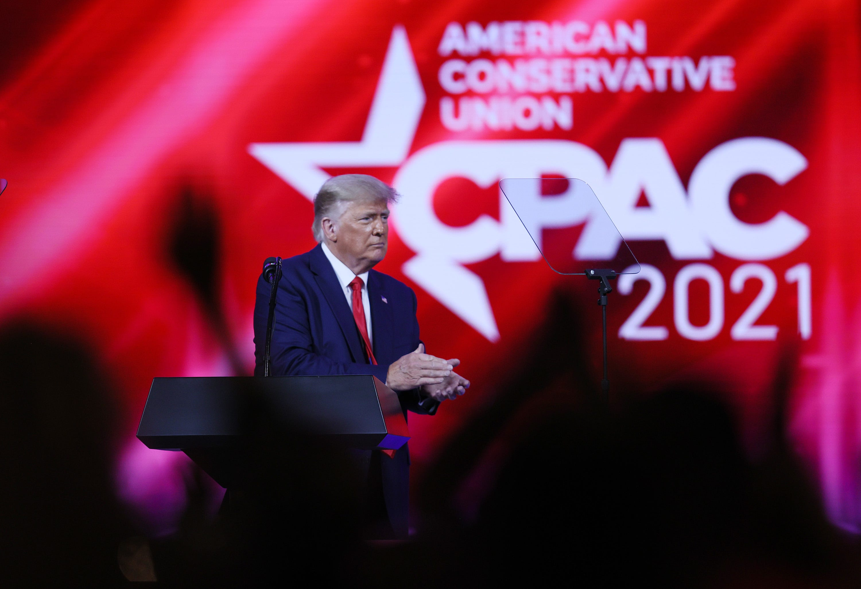 Nod or blunder? No CPAC 2021 apology for a stage shaped like a white supremacist symbol