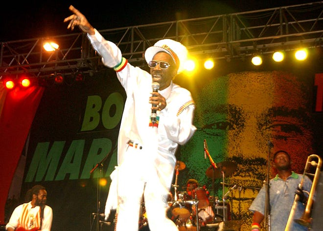 Bunny Wailer sings the songs of Bob Marley at the One Love concert to celebrate Marley's 60th birthday, Sunday, Feb. 6, 2005 in Kingston, Jamaica. Bunny Wailer is the only surviving member of Bob Marley and the Wailers which included, Bob, Bunny and Peter Tosh.