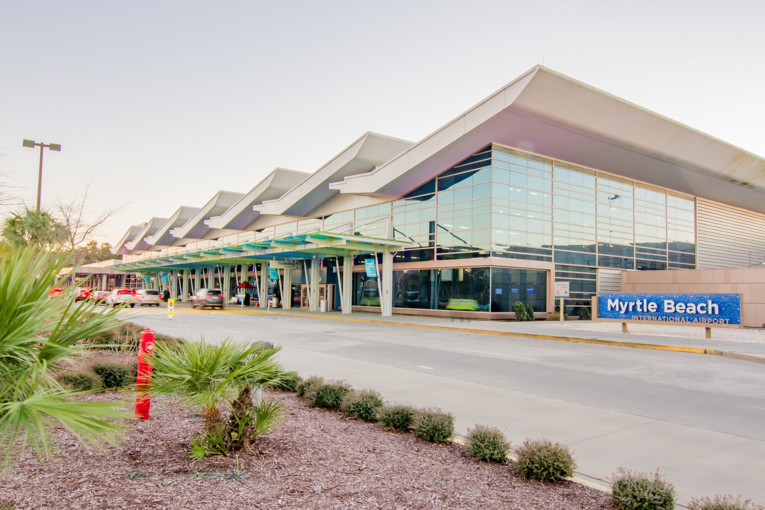<strong>1. Myrtle Beach International Airport</strong> (Myrtle Beach, South Carolina). Myrtle Beach International Airport ranks among the fastest growing airports in the state. Passengers fly in and out on eight different airlines to more than 50 destinations across North America. It wins high marks from passengers for its convenient location and the ease of getting through security and to your gate.