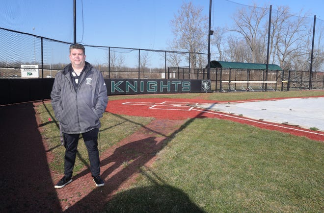 Nordonia High School athletic director Rob Eckenrode at the school's baseball field. The field will be named for longtime coach and educator Bernie Hovan.