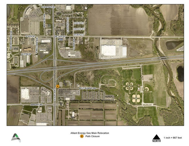 The shared-use path will close temporarily.