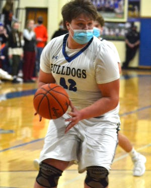 Hunter Passino finished with 11 points and seven rebounds to lead the Inland Lakes varsity boys in a home loss to Mancelona on Tuesday.