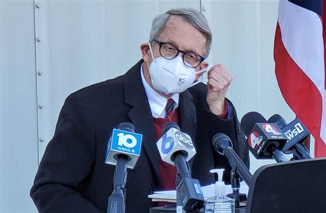 Ohio Gov. Mike DeWine continues to embrace the wearing of masks as a COVID-19 precaution.