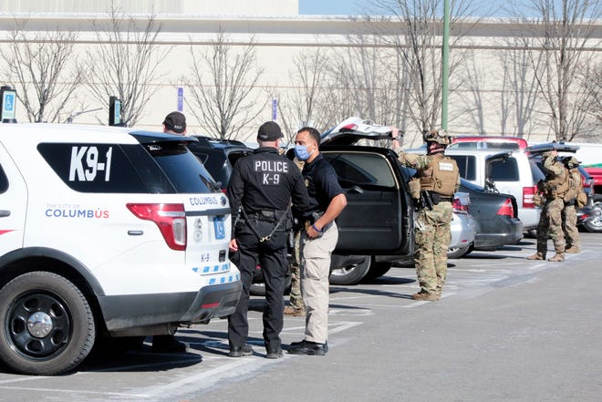 Polaris Fashion Place was evacuated after shots fired Wednesday afternoon.