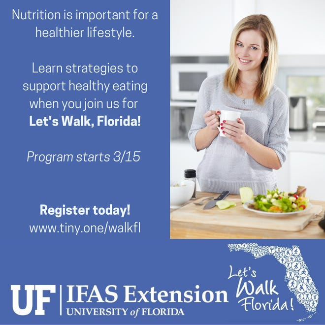 The University of Florida IFAS Extension wants to help you be healthier.