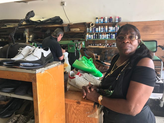 """Linda Tucker, owner of Gilley's Shoe Shop, says the coronavirus pandemic has taken it toll on her business. """"I shut down for three or four weeks,"""" Tucker said. """"It was really, really slow. I thought I was going too have to close up for good. I really thought about it. It (business) just died."""""""