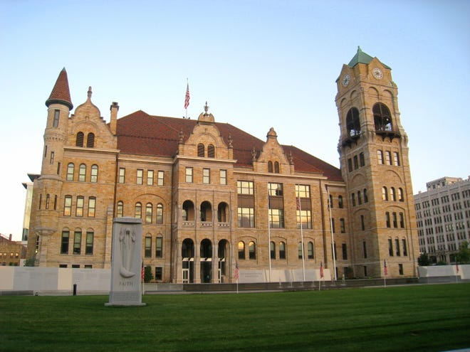 The Lackawanna County Courthouse is shown.
