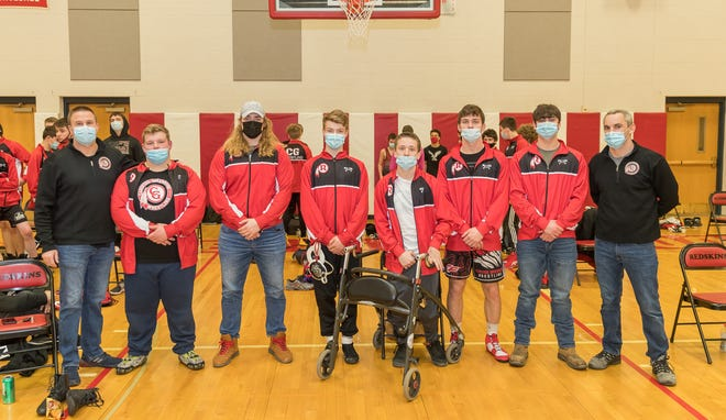 The Canisteo-Greenwood wrestling program honored its seniors before its home win over Addison Tuesday night.