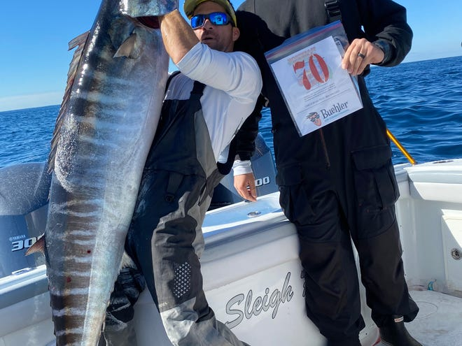 Eli Sleiman and his crew caught this 81-pound wahoo last Wednesday while fishing aboard the Sleigh Ride.