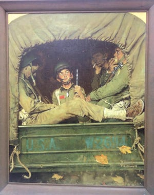 """""""Willie Gillis in Convoy"""" by Norman Rockwell. [TGN file photo]"""