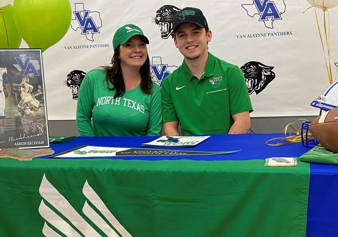 Van Alstyne senior kicker Aaron Beckham will play for the University of North Texas.