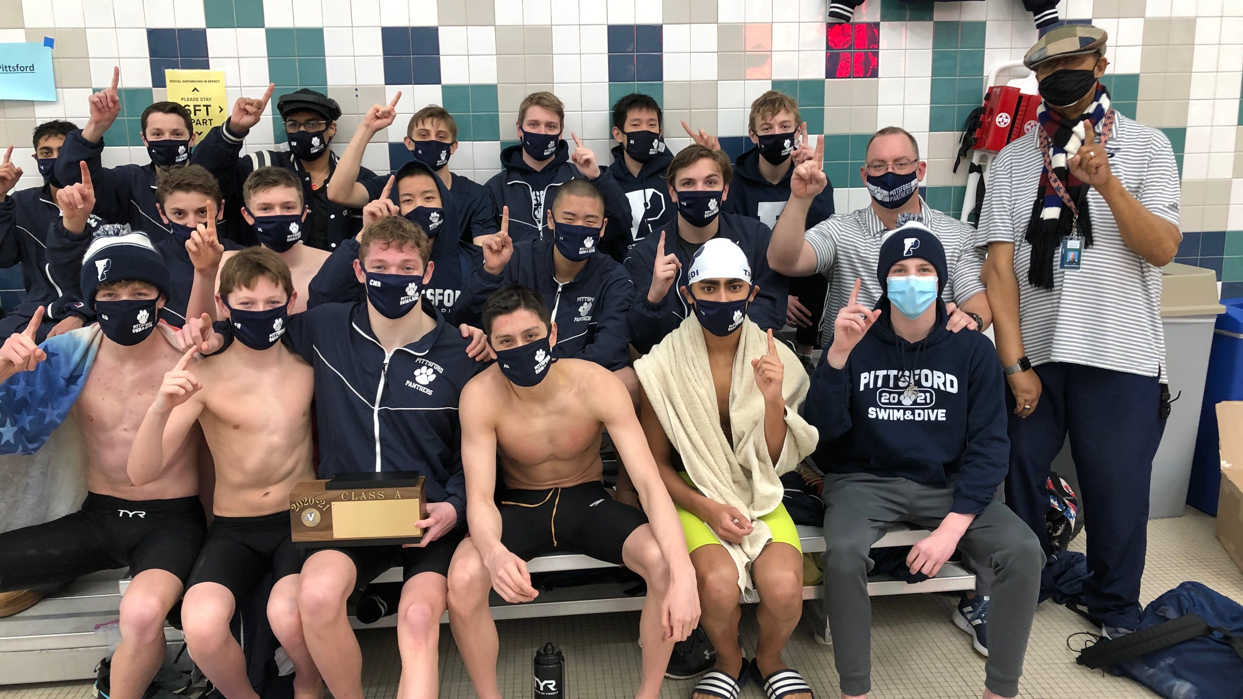 Pittsford swimming, diving net title win