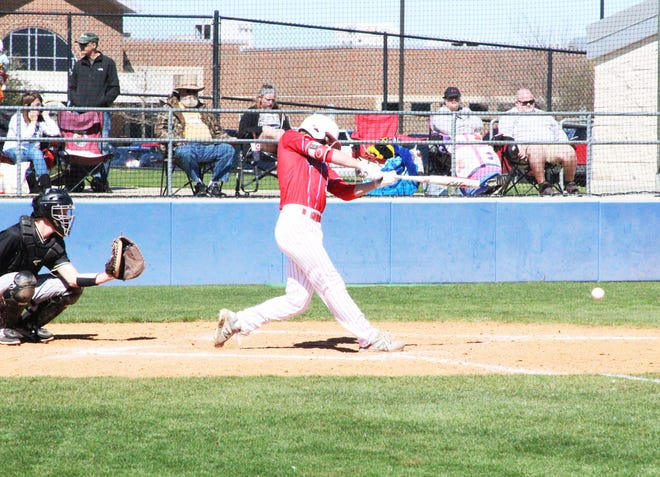 Heritage High School's Blake Wilhoite bats during a game last March against Palmer.