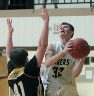 Higbee High School freshman Jordan Fuemmeler (#32) was named the boys MVP of the Cooper County Activities Association for the 2020-21 basketball season by member coaches. Fuemmeler averaged 16 points, 5.7 rebounds, 3.2 assists and 2.5 steals per game this season.