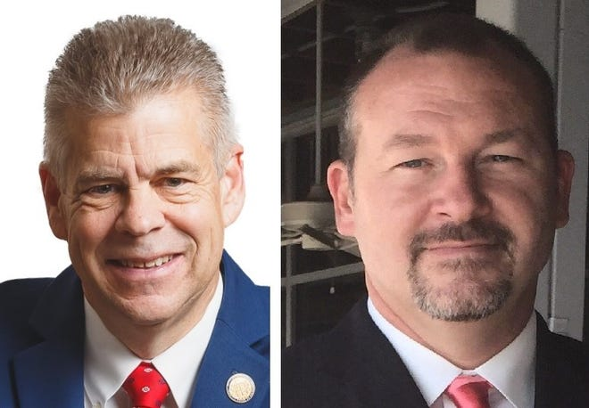 Former House Speaker Kirk Cox, left, and Colonial Heights City Councilor Michael A. Cherry are endorsing each other in their respective Republican nomination bids — Cox for governor, and Cherry to succeed Cox in the 66th House of Delegates District.
