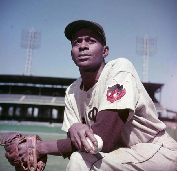 """Leroy """"Satchel"""" Paige pitched in the majors after integration, but his legend was born in the Negro Leagues. [The Associated Press]"""