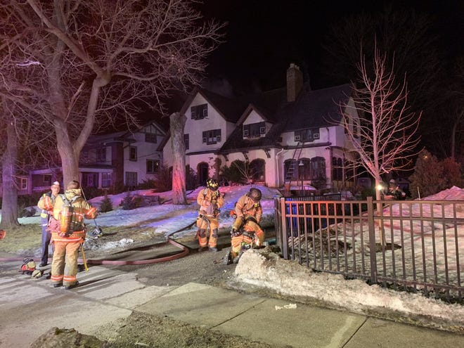 Two people were injured during a house fire on Tuesday, March 2, 2021, at 1535 E. State St. in Rockford.