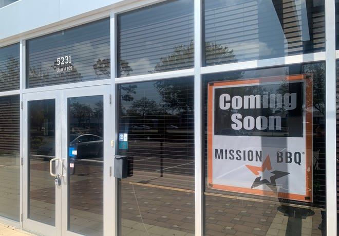Mission BBQ is almost ready to go at 5231 University Parkway #109, the former space of Half Shell Seafood House, in The Market at University Town Center shopping plaza.