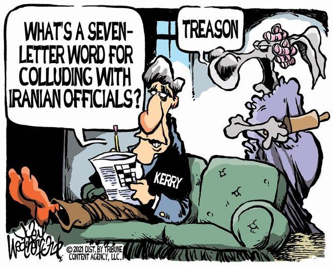 Weatherford cartoon: Kerry's treason
