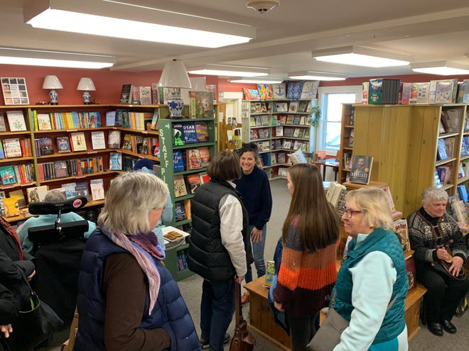 Columnist Lauren Daley meets and greets with members of her BookLovers Century Club last year at Westport's Partners Village Store.