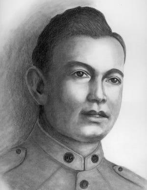 Portrait of Joseph Monte that was done by local artist, Zack Souza.