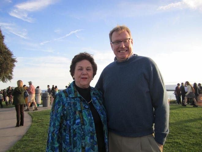 """Helen """"Susie"""" Titus with OSV President and CEO Jim Donahue"""