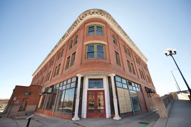 The Holmes Hardware building, on 400 S. Union Avenue, is being renovated into a food hall and apartment complex.