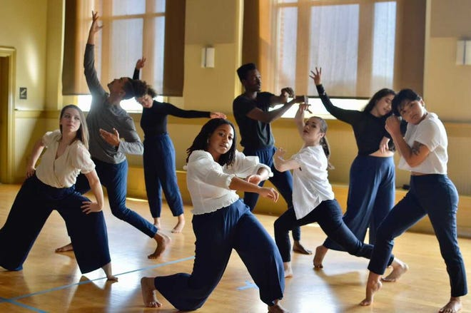 VLA DANCE members including Victoria L. Awkward, Olivia Blaisdell, Mitzi Eppley, Tabitha Hanay-Reaves, Michayla Kelly, Sarah Pacheco, Theophile Victoria, and Adam Wertheimer