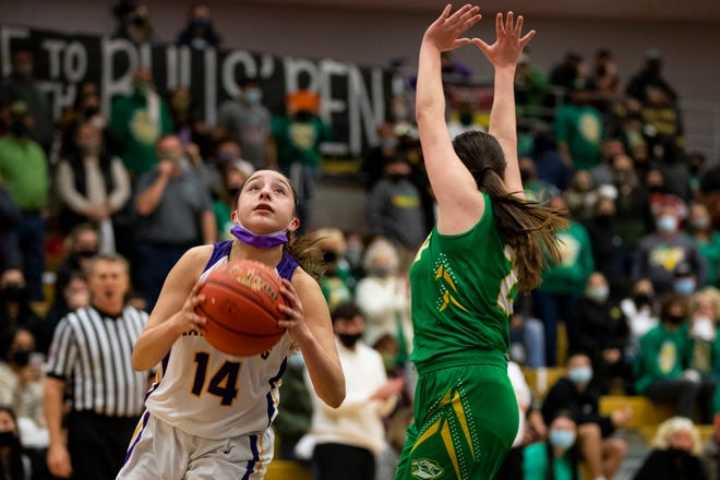 Bishop defeats Skidmore-Tynan 54-51 in the girls Class 3A regional semifinal at H.M. King High School in Kingsville,Texas on Tuesday, March 2, 2021.
