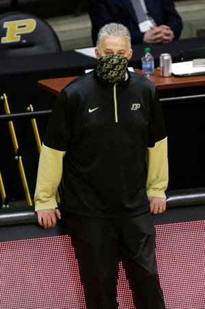 Purdue head coach Matt Painter during the second half of an NCAA men's basketball game, Tuesday, March 2, 2021 at Mackey Arena in West Lafayette.