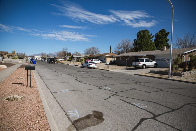 Edgewood Avenue, where Karen Trujillo, school superintendent for Las Cruces Public Schools, was struck and killed by a minivan while walking her dogs is pictured on Wednesday, March 3, 2021.