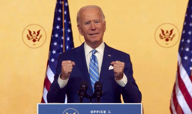 President Joe Biden and his fellow Democrats need to start their outreach by addressing those Americans who did not vote for Trump last year because they did not vote at all. (Biden Transition/CNP/Zuma Press/TNS)