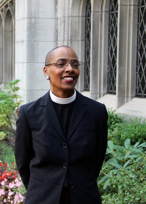 The Very Rev. Dr. Kelly Brown Douglas is the dean of Episcopal Divinity School at Union Theological Seminary. She focuses studies on womanist theology and helped add gender-neutral language to the church's texts.