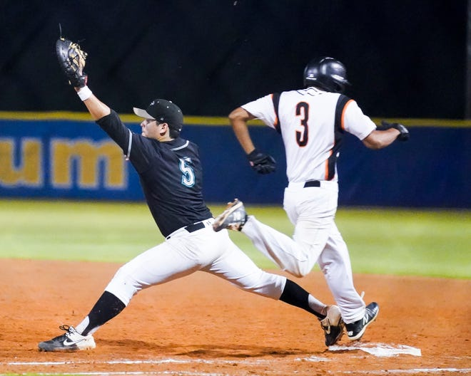 Lincoln Park Academy hosts Jensen Beach in a baseball game at Bob Gladwin Baseball Complex on Tuesday, March 2, 2021, in Fort Pierce.