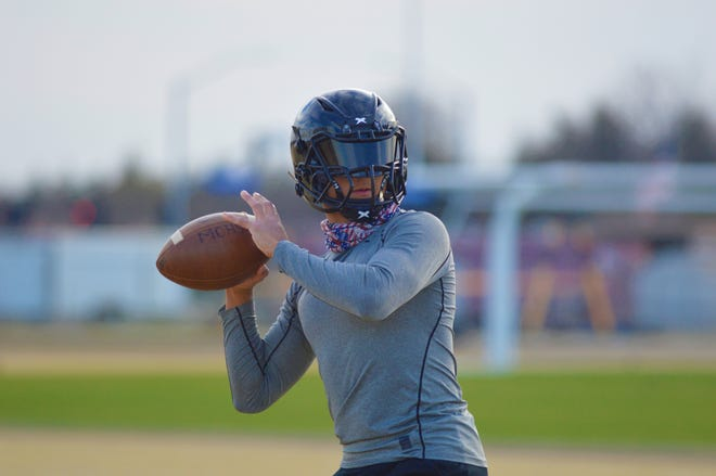 The Mission Oak High School football team returned to official practices on March 2, 2021 in Tulare.