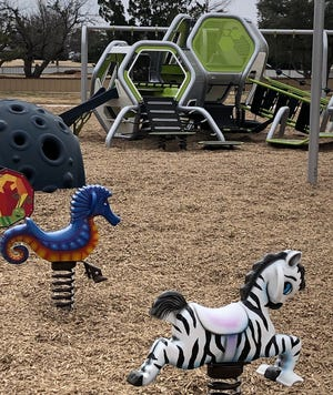 The University Kiwanis Club's new playground is almost fully installed. The club will have a ribbon cutting at 9 a.m. March 27 for the inclusive playground.