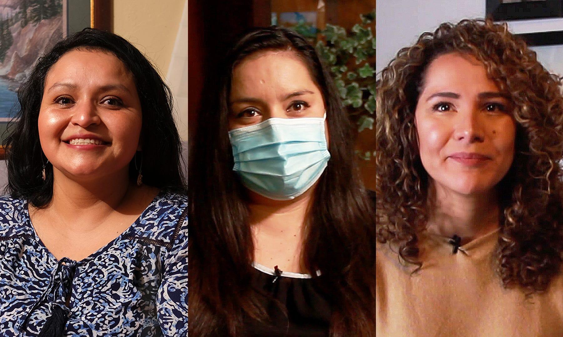 Blanca Keiser, Maria Dolores Vaca Carrasco y Ana Perla Nuñez son sobrevivientes de abuso doméstico que ahora viven en Oklahoma City.