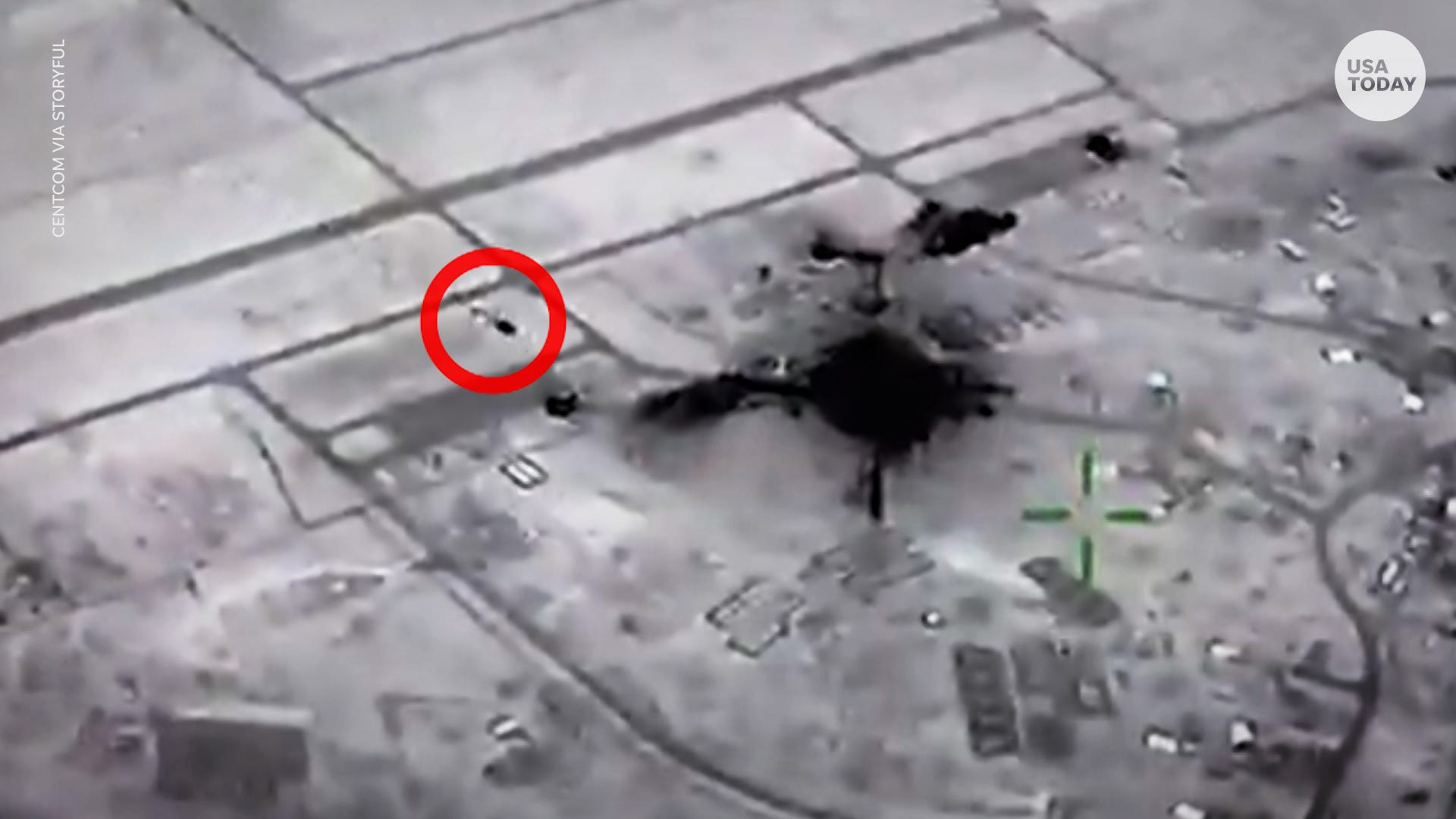 Drone shows moment Iranian missiles attacked US forces based in Iraq