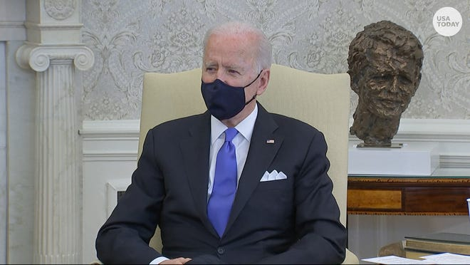 "President Joe Biden said it's a ""big mistake"" for states to lift pandemic restrictions and mask mandates."