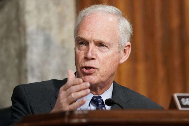 Sen. Ron Johnson, R-Wisc., asks questions during a hearing Wednesday at the Capitol.