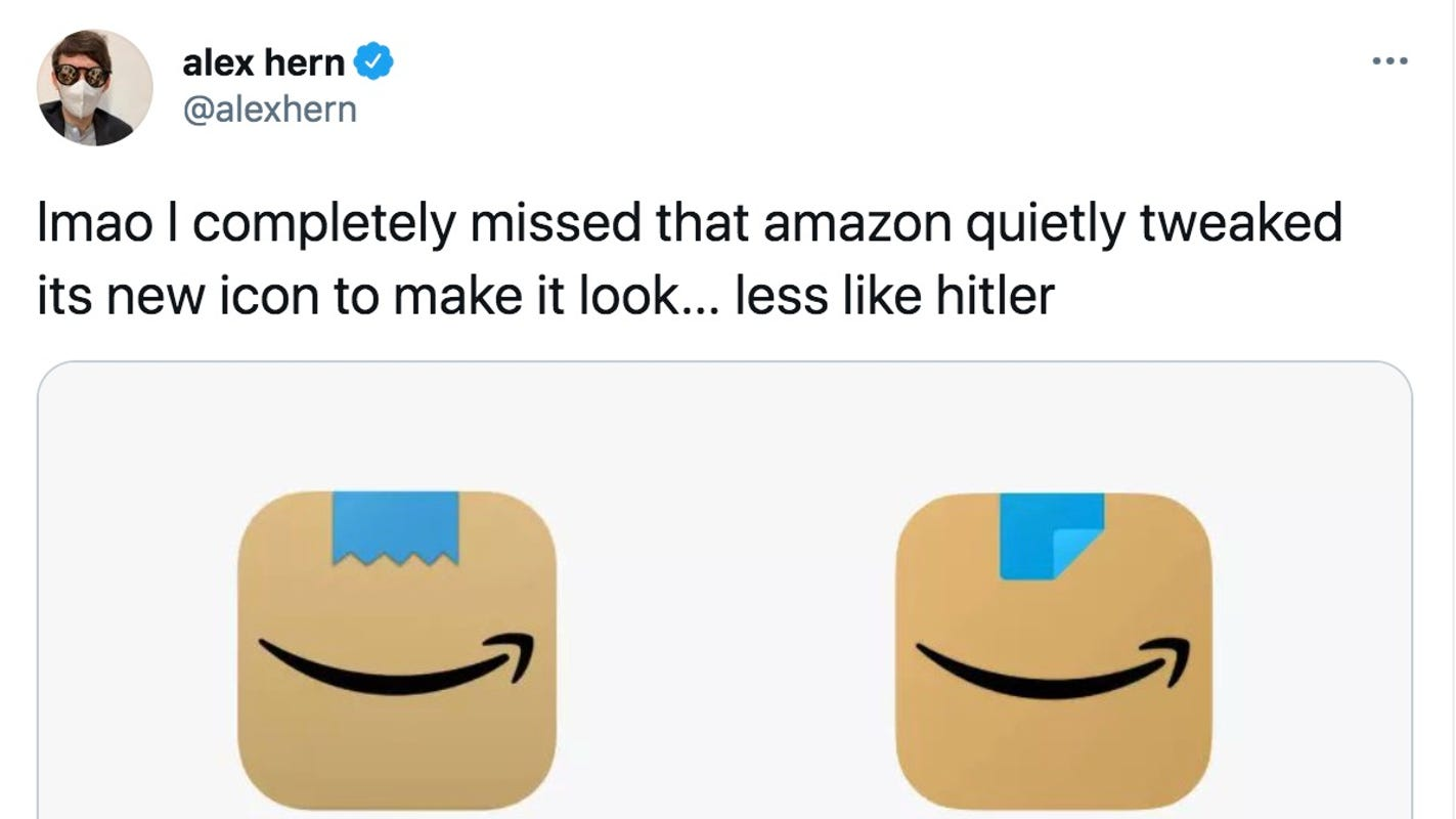 Amazon quietly updates mobile app icon that drew comparisons to Hitler mustache - USA TODAY