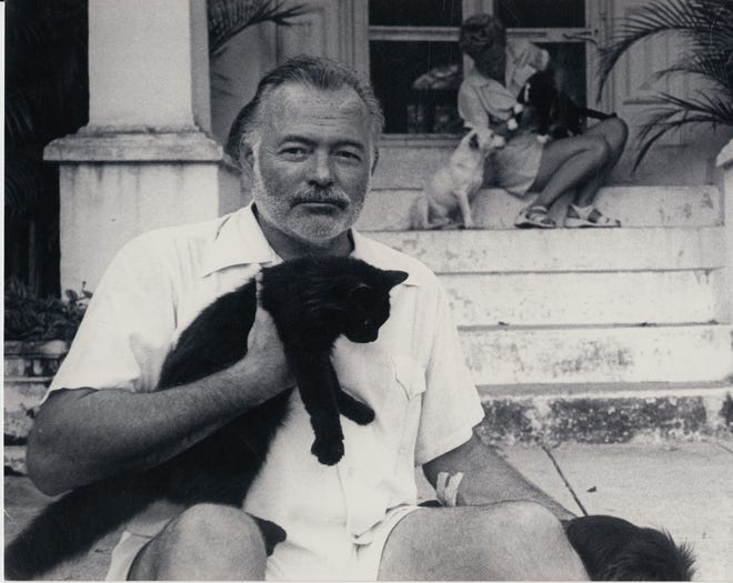 """Ernest Hemingway in an archival image from PBS's """"Hemingway."""""""