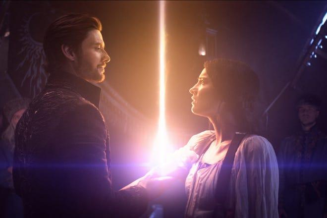 "General Kirigan (Ben Barnes) and Alina (Jessie Mei Li) in ""Shadow and Bone."""