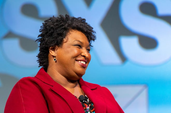 Stacey Abrams, seen here at SXSW in 2019, gave the 2021 online conference's first keynote, though technical difficulties delayed it by about half an hour.