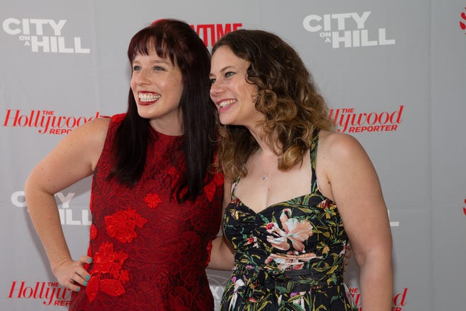 """ATX Television Festival co-founders Caitlin McFarland, left, and Emily Gipson attend the closing night screening of """"City on a Hill"""" on June 8, 2019, at the Paramount Theatre during last year's festival. Thanks to the coronavirus pandemic, the organizers have shifted this year's event to YouTube."""