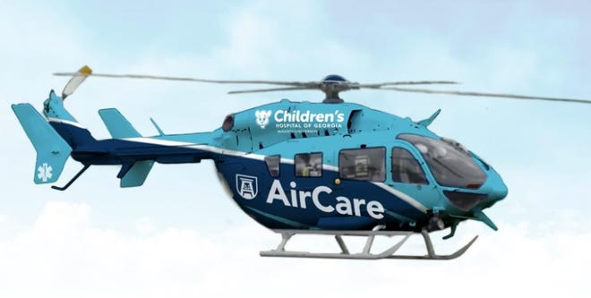 The new AU Health AirCare helicopter will provide fast and reliable transport to those in need across the area.