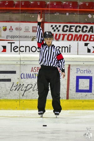 Laura White, of Runnemede, N.J. has officiated numerous high-level hockey tournaments, including the International Ice Hockey Federation Championship.