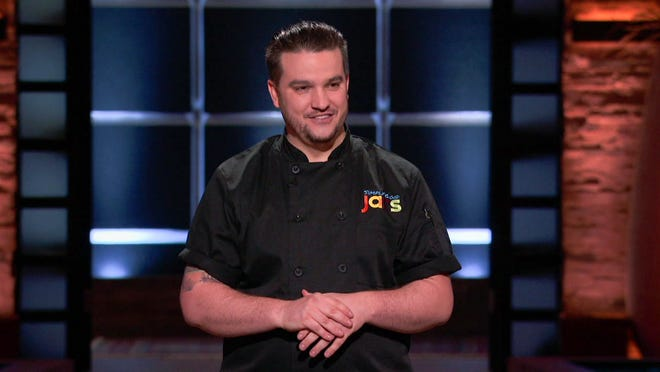 Moorestown resident Jared Cannon, facing down the sharks on the hit ABC reality show.